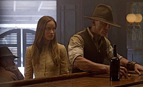 Olivia Wilde and Daniel Craig in Cowboys & Aliens