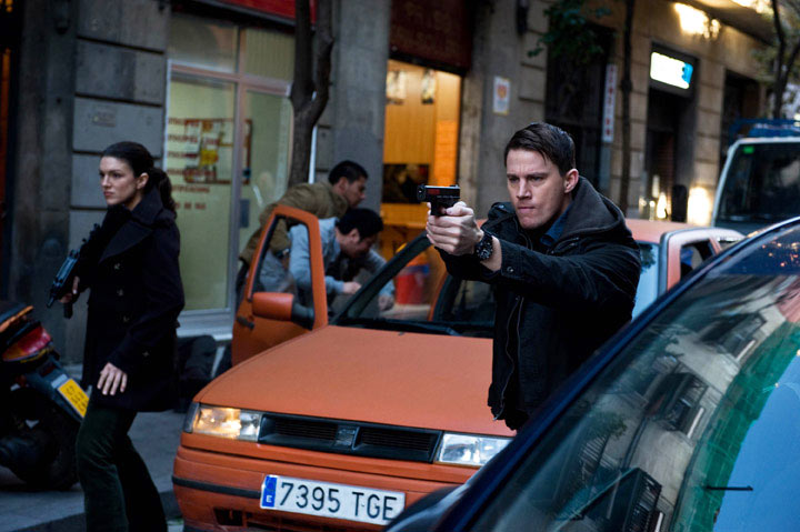 mixed martial arts (MMA) superstar Gina Carano and Channing Tatum in Haywire