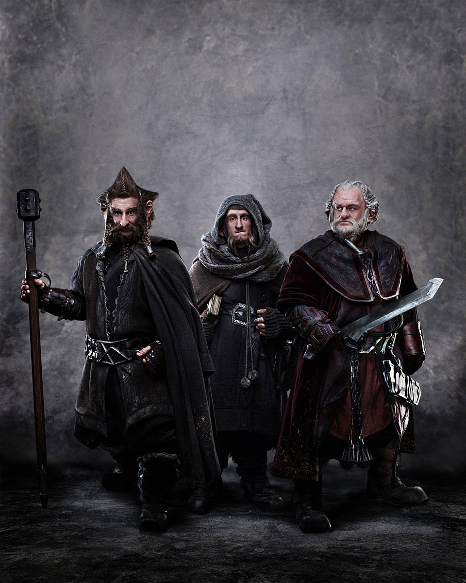 Jed Brophy as Nori, Adam Brown as Ori and Mark Hadlow as Dori in Peter Jackson's fantasy adventure The Hobbit: An Unexpected Journey