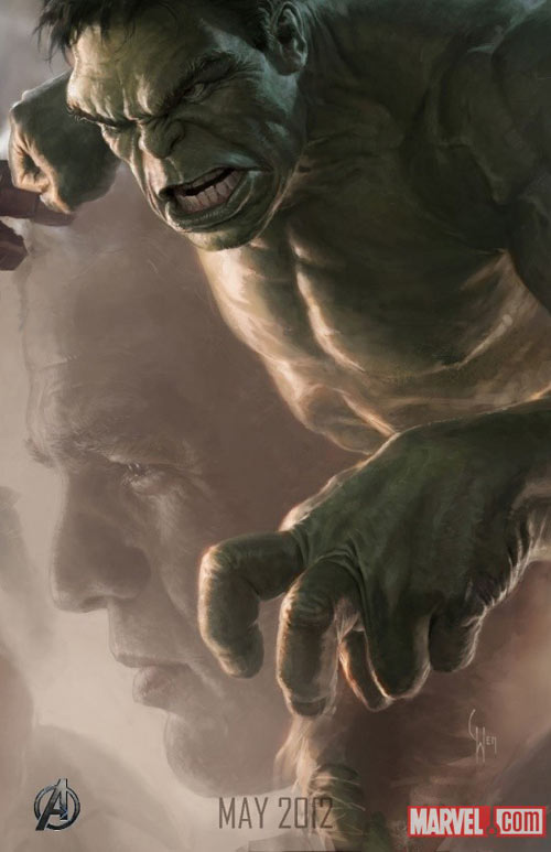 The Avengers character movie posters - The Hulk