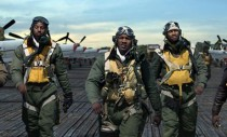 Cast of Red Tails and actual Tuskegee Airman landing at New York Comic-Con 2011