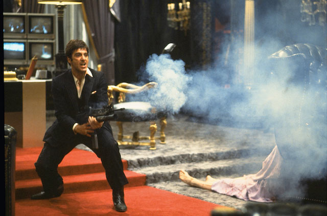 Al Pacino in Brian De Palma's cult gangster classic Scarface