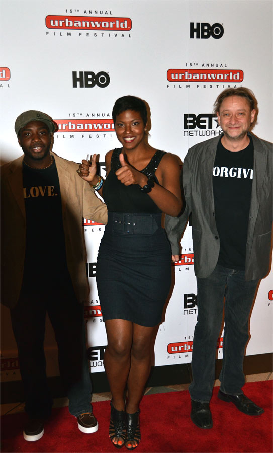 Kinyarwanda director Alrick Brown, star Cassandra Freeman, and producer Darren Dean