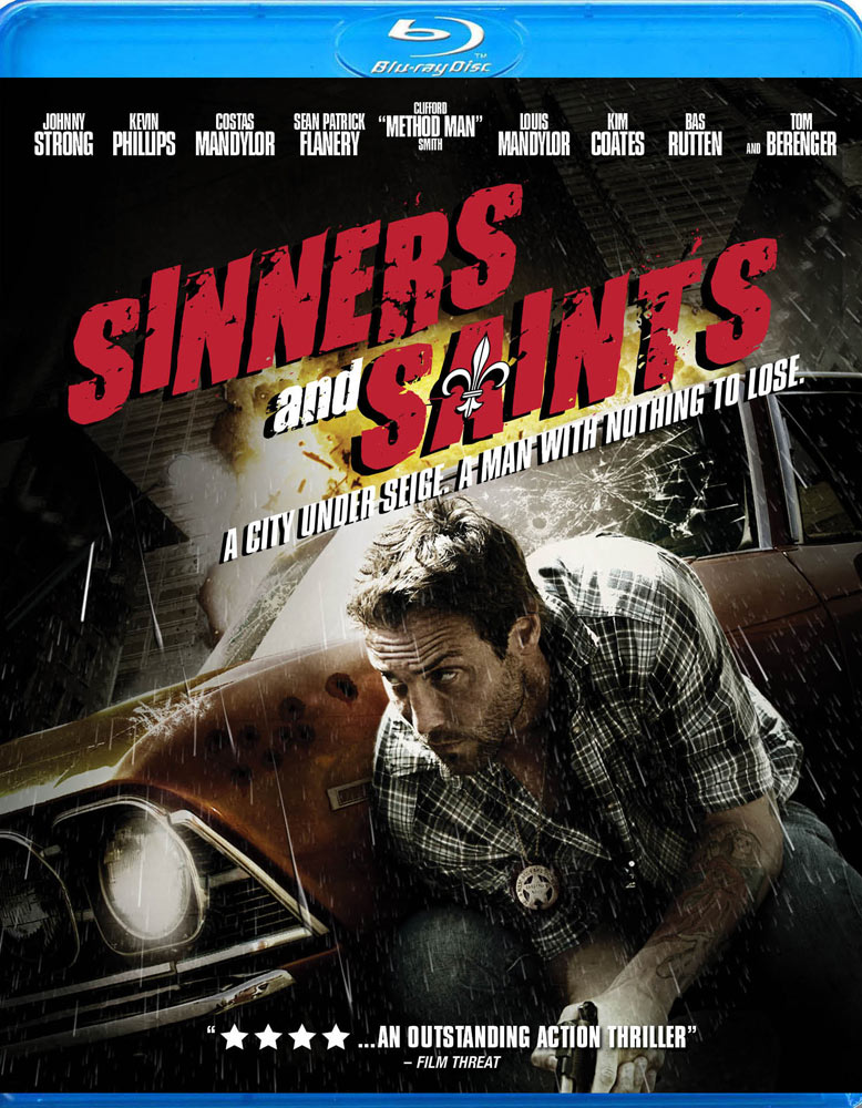 Blu-ray packaging for Sinners and Saints
