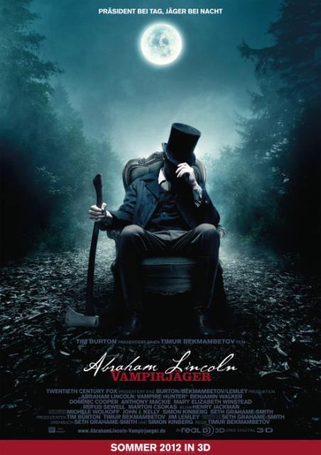 Abraham Lincoln: Vampire Hunter European movie poster