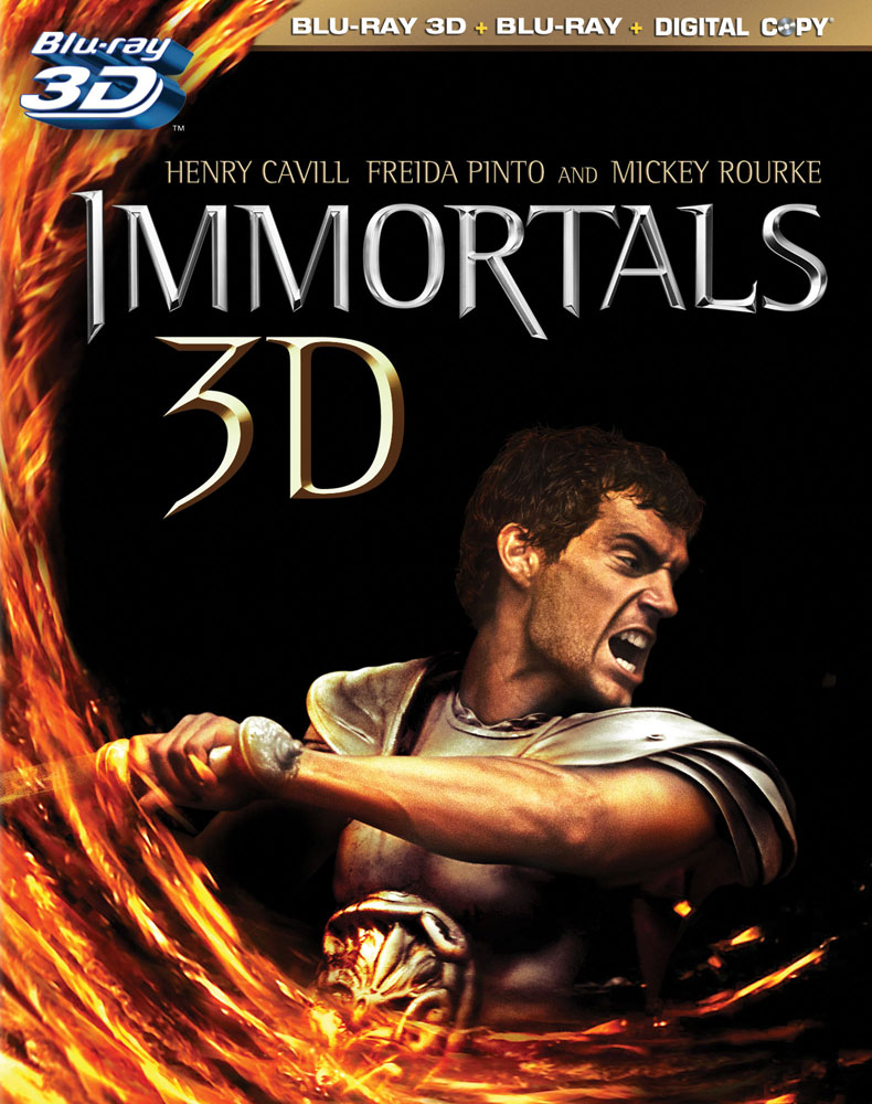 Immortals 3D Blu-ray packaging art