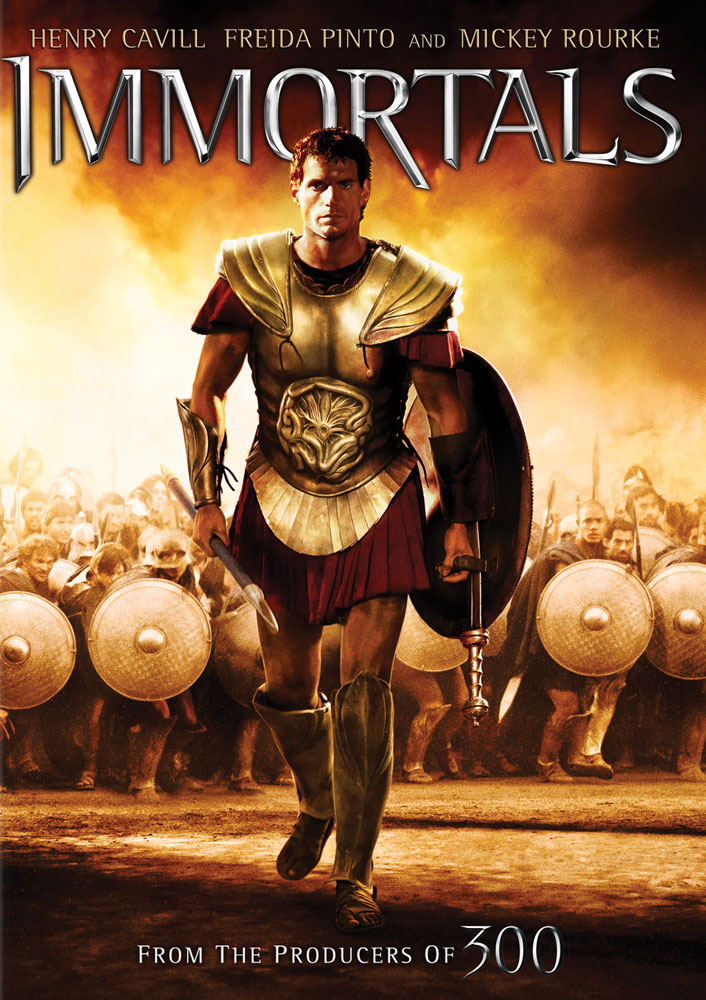 Immortals DVD and Blu-ray packaging art
