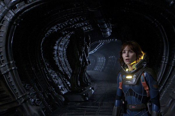 Noomi Rapace in Prometheus. Photo: Kerry Brown