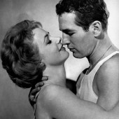 Piper Laurie and Paul Newman in The Hustler