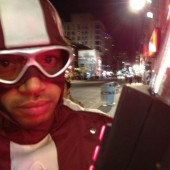 Check out Donald Faison and Jim Carrey on the set of Kick-Ass 2