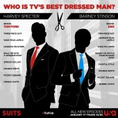 Is TV's best dressed man Suits' Harvey Specter or Barney Stinson?