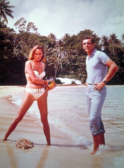 Sean Connery and Ursula Andress in the 1962 Terence Young film Dr. No