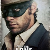 Armie Hammer as The Lone Ranger character movie poster