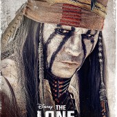 The Lone Ranger Johnny Depp as Tonto character movie poster