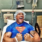 The Rock ok after emergency surgery