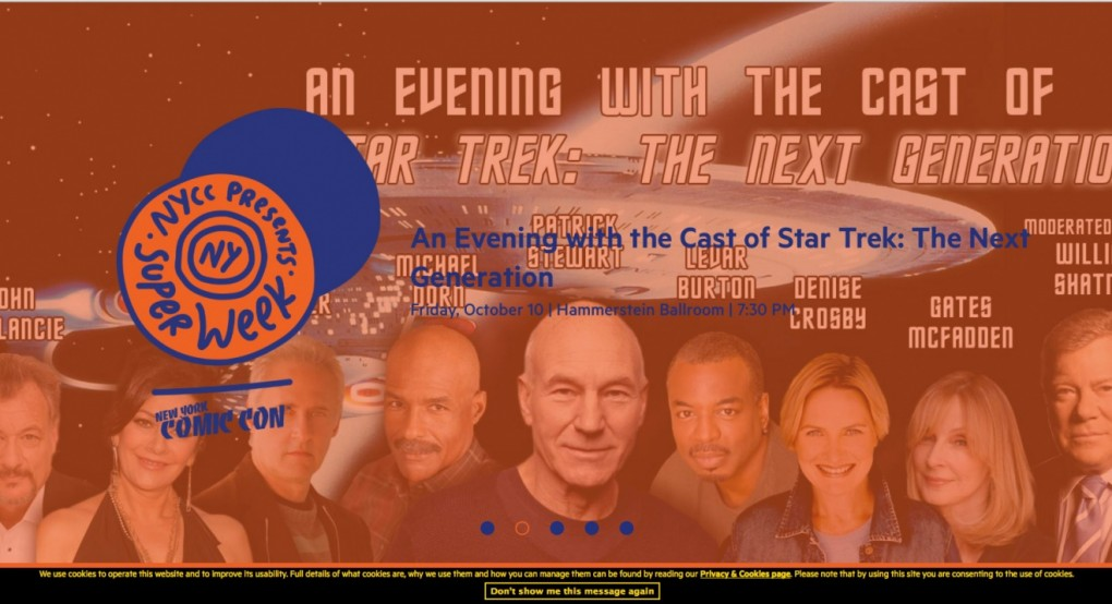 Permalink to @NY_Comic_Con #StarTrek Captains Patrick Stewart and William Shatner to share stage at Star Trek: The Next Generation cast event during New York Super Week