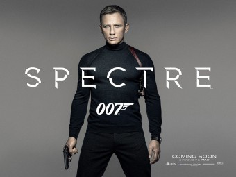 First teaser poster for Spectre featuring Daniel Craig as James Bond