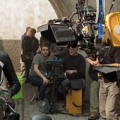 Rebecca Ferguson on the set of Mission Impossible: Rogue Nation (2015)