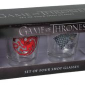 Dark Horse Deluxe Game of Thrones Shot Glass Set: Stark, Baratheon, Targaryen and Lannister