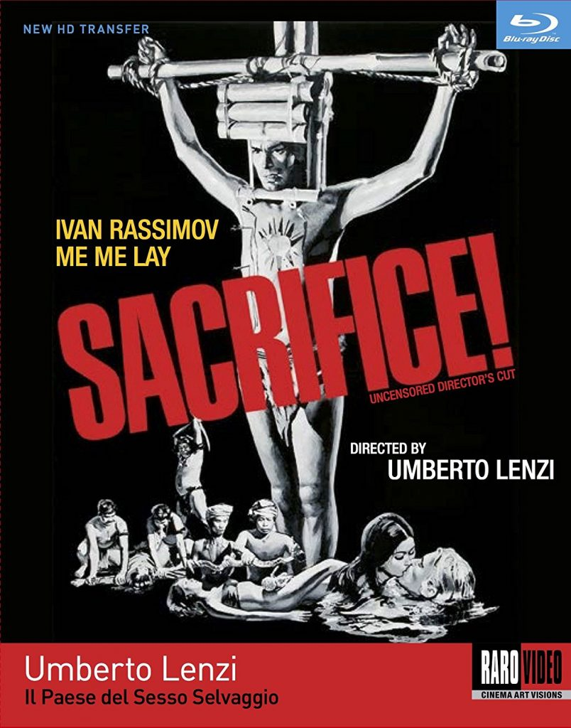 """Sacrifice! (The birth of the bloody and controversial """"Italian Cannibal"""" sub-genre begins with this movie)"""
