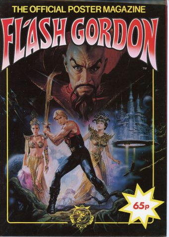 RARE Flash Gordon The Official Poster Magazine Walkerprint Phoenix Publications (1980)