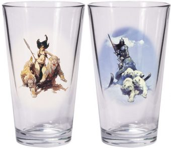 Frank Frazetta Warriors & Women Boxed Pint Glass Sets: Silver Warrior and The Huntress