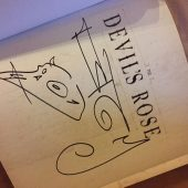 Gerald Brom Signed The Devil's Rose First Printing Hardcover Illustrated Book with Hand Drawn Sketch