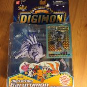 RARE Bandai Digital Digimon Monsters Digivolving Garurumon (Weregarurumon) ID #56 Action Figure with Trading Card (1999)