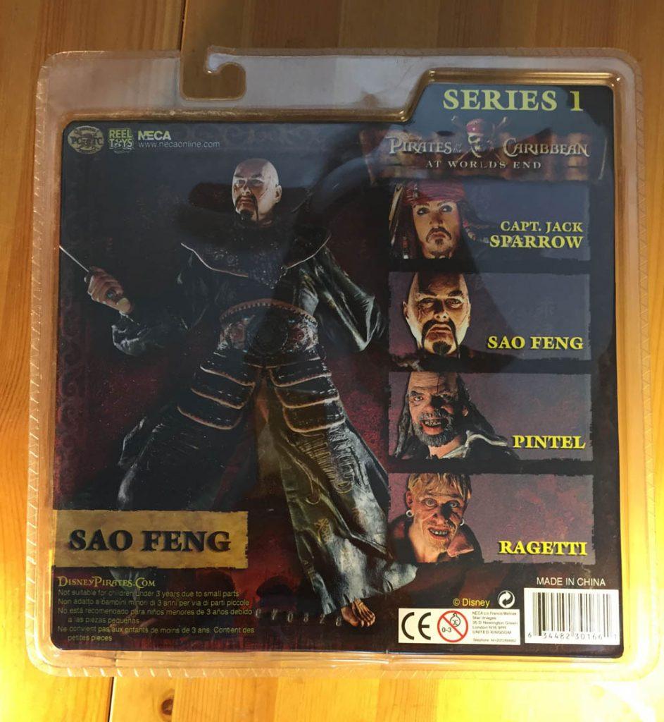 NECA Pirates of the Caribbean Sao Feng Action Figure DMG PKG