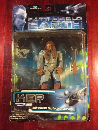 Trendmasters Battlefield Earth Forest Whitaker as Ker with Psychlo Blaster and Dead Rats Action Figure (1999)