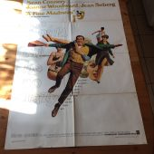 A Fine Madness (1966) Original Movie Poster One Sheet Sean Connery, Joanne Woodward & Irvin Kershner