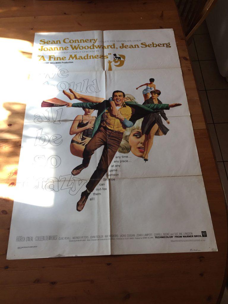 A Fine Madness One Sheet 1966 Sean Connery, Joanne Woodward by Jean Seberg Joanne Woodward