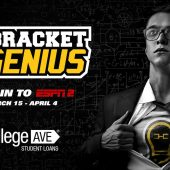 ESPN2 and College Ave Student Loans giving hoops fans in college a chance at a 50K scholarship with academic competition Bracket Genius