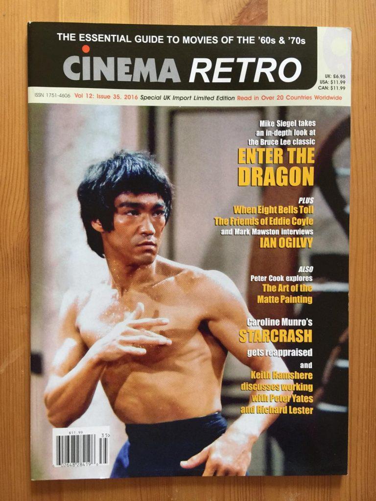 Cinema Retro Magazine Volume 12 Issue 35 (2016) – In-Depth Look at Bruce Lee's Classic Martial Arts Film Enter the Dragon