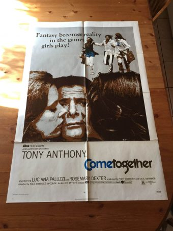 Come Together (1971) Original Movie Poster One Sheet Luciana Paluzzi & Tony Anthony