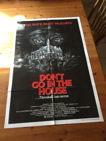 Don't Go In The House (1979) Original Movie Poster One Sheet Joseph Ellison Horror Thriller