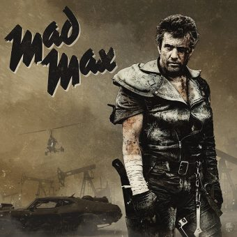 The Mad Max Trilogy Original Soundtrack Limited Collector's Edition Vinyl 3-Disc Set designed by Marvel comic artist Tim Bradstreet