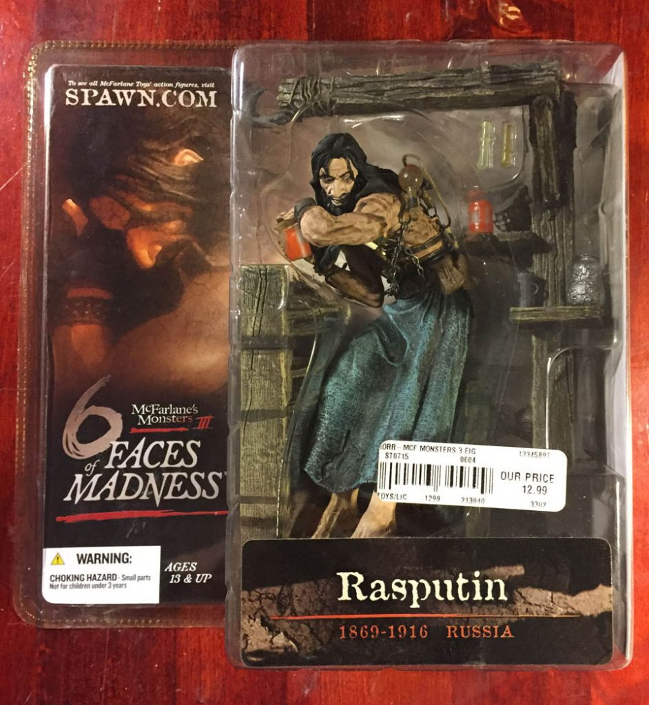 Rasputin: McFarlane Toys Monsters Series lll – 6 Faces of Madness Action Figure (2004)