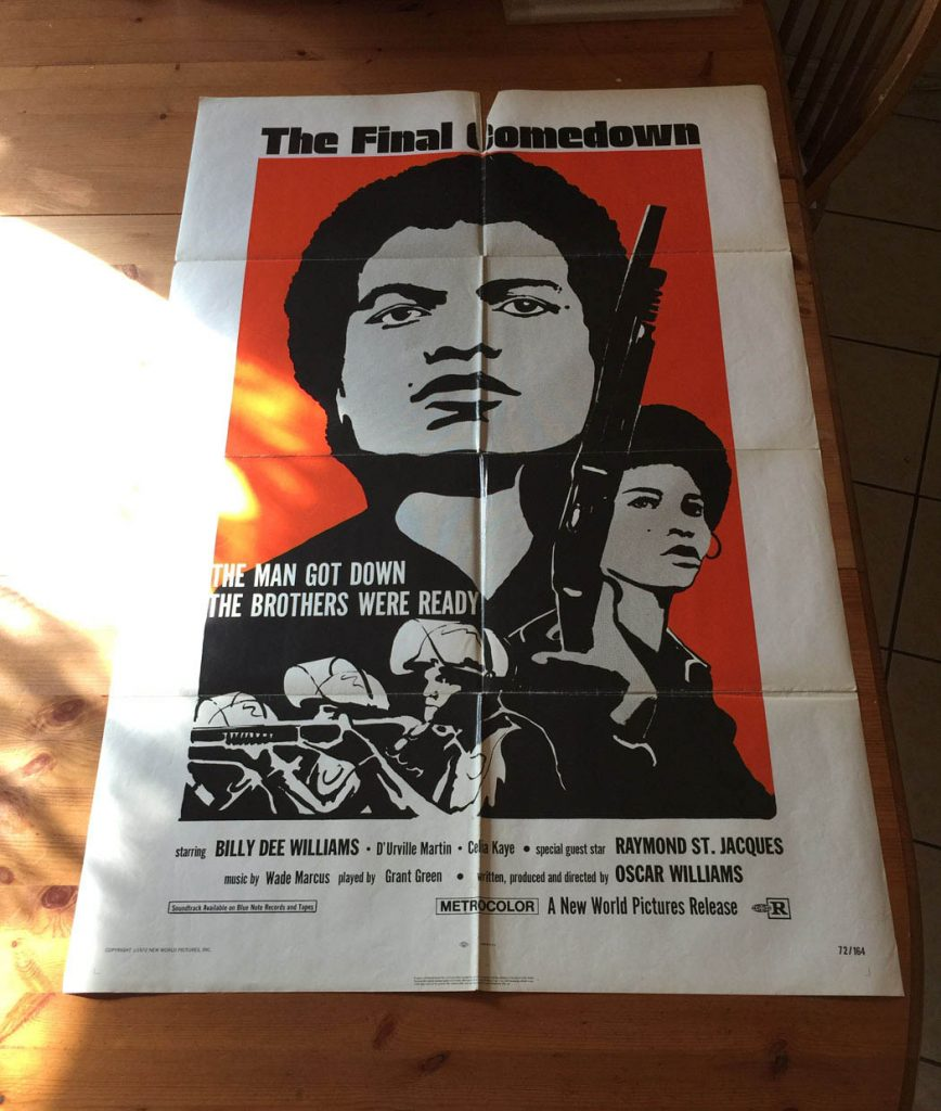 The Final Comedown (1972) Original Movie Poster One Sheet Blaxploitation Action Billy Dee Williams