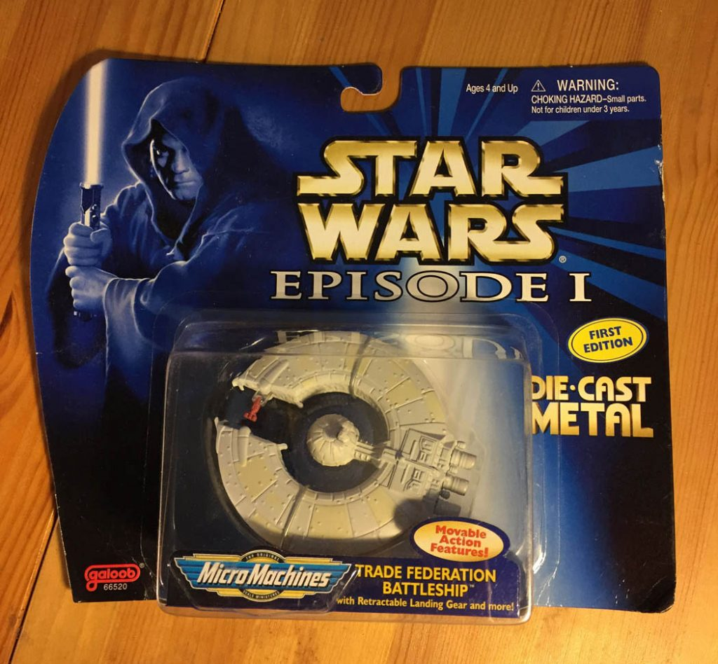Star Wars Micro Machines Trade Federation Battleship Die Cast Galoob Ship (1999) Star Wars: Episode I The Phantom Menace