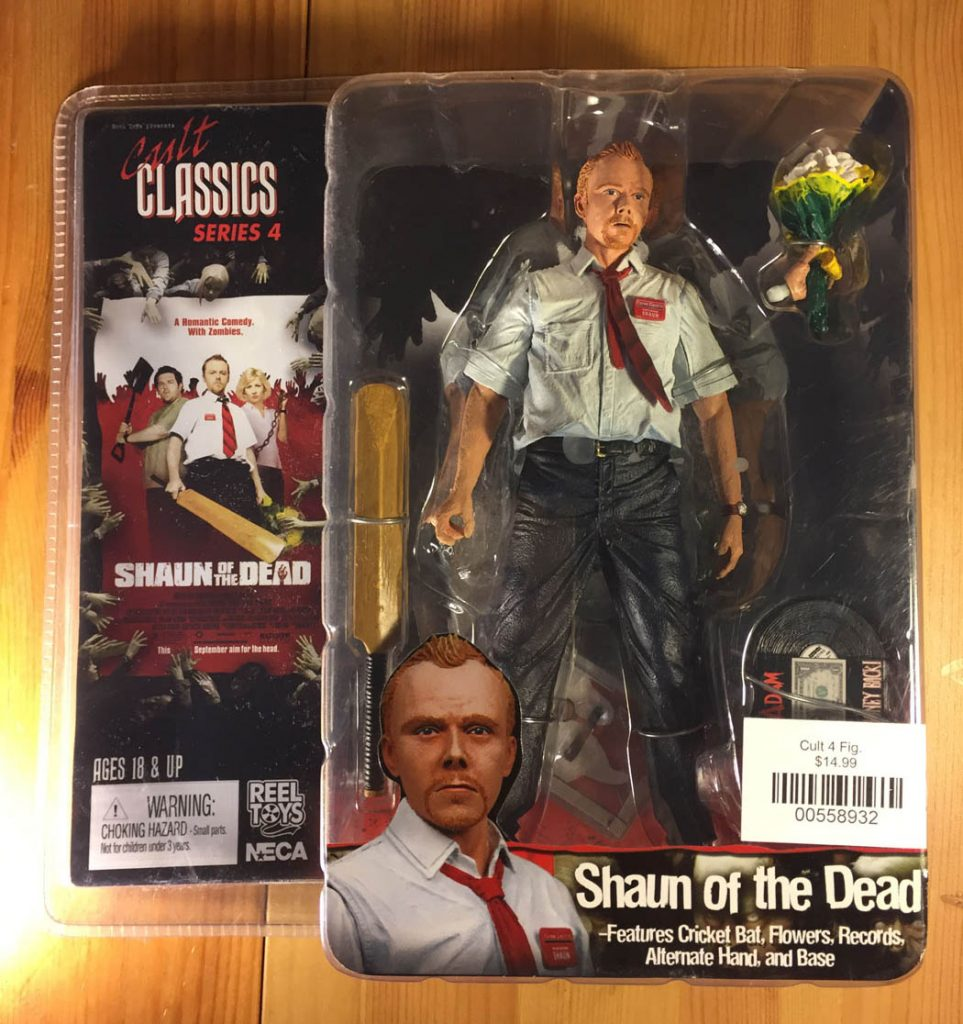 NECA Reel Toys Shaun of the Dead Cult Classics Series 4 Simon Pegg Action Figure