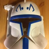 SDCC 2008 Star Wars Clone Commander Blue Hard Plastic Mask
