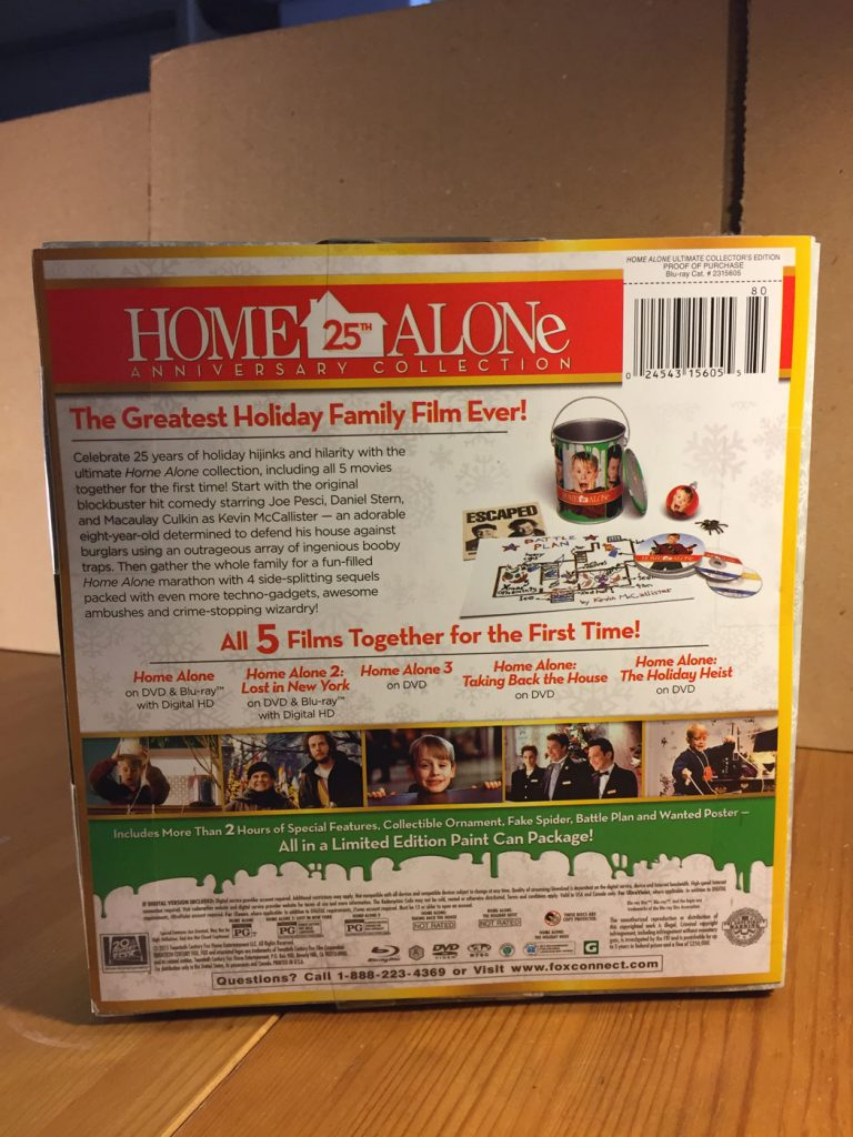 home alone 25th anniversary collection filmfetishcom