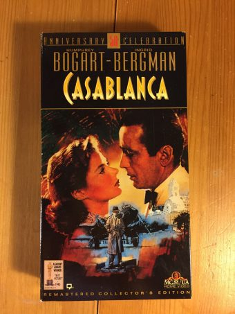 Casablanca 50th Anniversary Celebration Remastered Collector's Edition VHS with Full-Color Booklet
