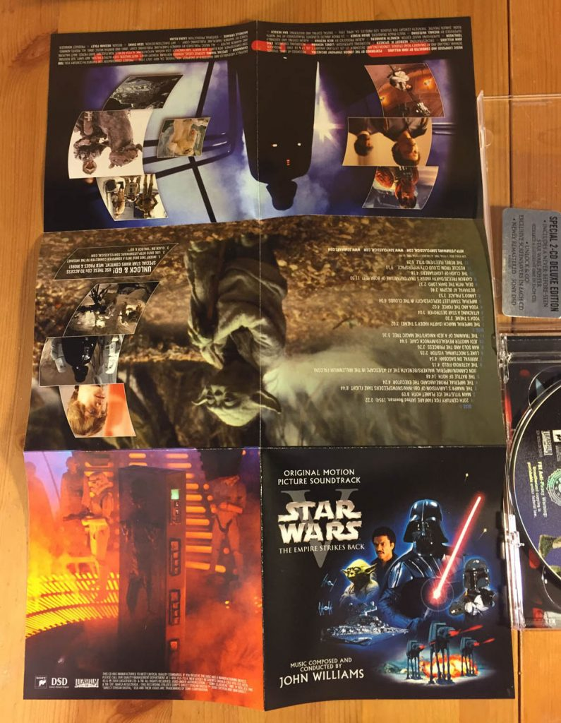 Star Wars Episode V The Empire Strikes Back Collector S Edition Original Motion Picture Soundtrack With Rare Foldout Poster Filmfetish Com Film Fetish And The Crush Collectibles Shop