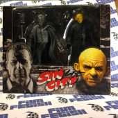 RARE Frank Miller's Sin City Hartigan (Black & White) vs. Yellow Bastard (Color) NECA Action Figure Set Signed by Nick Stahl