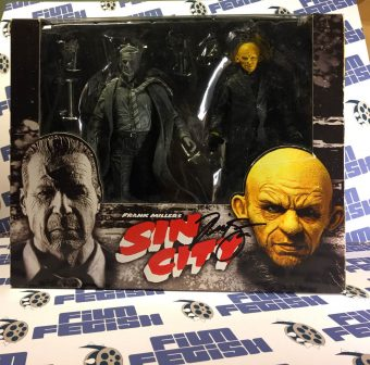 RARE Frank Miller's Sin City Hartigan (Black & White) vs. Yellow Bastard (Color) NECA Action Figure Set Signed by Nick Stahl