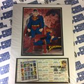 SEALED Superman USPS 1st Day Issue Cover SDCC 2006 Limited Edition Stamp Art Matted Poster 16 X 12