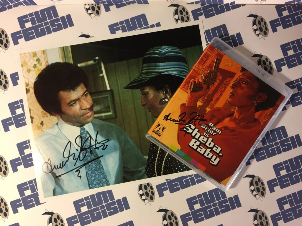 Exclusive Collectible: Austin Stoker Signed Sheba, Baby Special Blu-ray + DVD Arrow Combo Edition and Rare Photo Pam Grier