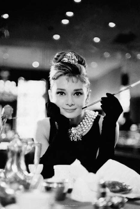 Audrey Hepburn in Breakfast at Tiffany's 24 x 36 inch Poster